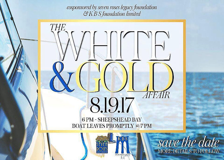 white and gold affair